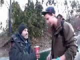 Magic Trick With Coffee For A Homeless