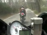 Motorcycle Rider Pays Painful Price For Showing Off In Public Road