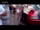 Man And Women Attack Taxi Driver And Bystanders Who Try To Intervene