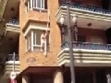 Man & Wife Argue On Balcony While Lover Jumps Out Of Their Window