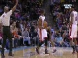 NBA Basketball Player Dwyane Wade Kicks Ramon Sessions In The Balls