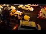 NYPD Cops Lift Taxi Off Man