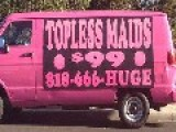 New Pink Vans Offering Topless Maid Services
