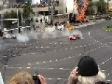 Nascar Doing Donuts On The Las Vegas Strip