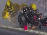 NHRA Funny Car Massive Explosion Pomona SoCal