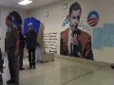 Obama 'Hope And Change' Mural Inside Polling Place In Philadelphia!