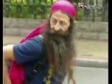 OWS-looking Foreigner Joins Buddhist Parade With Old Women