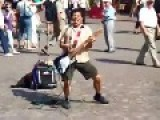 Older Street Musician Feelin It!