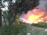 Orange County, CA Brush Fire, Homes Destroyed
