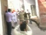 Punjab POLICE*** From India Beating Protesting People On Road