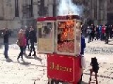 Pop-corn Machine On Fire