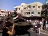 People Celebrating The Arrival Of The Syrian Army