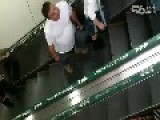 Pervert Films Girl Upskirt On Escalator