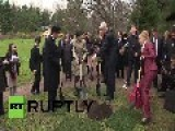 Russia: Japanese PM Plants Cherry Tree, Helping Relations Bloom With Russia