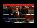 Rand Paul Filibuster Interupted By Emergency Broadcast Test