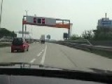 Racer Shows Off With Diplomatic Passport On Austrian Autobahn A4