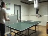 Robot Plays Table Tennis