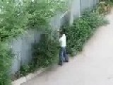 Romanians Are Not Stupid - He Hits The Garden Because Was Blocked In Schengen
