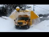 School Bus Snow Blower