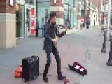 Street Musician Extraordinaire....Bryson Andres And His Electric Violin From Anchorage, Alaska