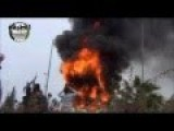 Syrian Rebels Wasting Ammo And Burning Assad Statue