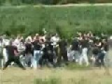 Serbian Hooligans Fight