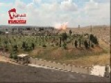 Syria-Airstrike On FSA Positions Near Aleppo Prison Center + Slow Motion
