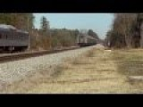 Stupid Person In Car Has Close Call With An Amtrak Train
