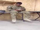 Soldier Singing Rihanna Stay Cover