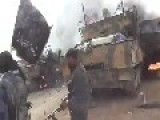 Syrian Rebels Destroyed With Rockets Many Syrian Tanks And Cars
