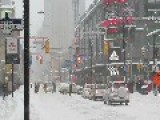 Snow Storm Disrupts Toronto