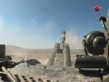 Shooting MSTA-S Self-propelled Guns. Awesome Crew POV