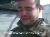 Syrian Regime Soldier Crying
