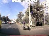 Scooter VS Car Crash In Ukraine