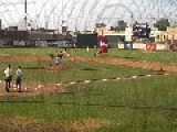 Skydiver Takes Out Baseball Player