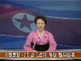 The Female Chief Announcer Of North Korea Announce The Success Of Launching A Satellite Using Her Country's Rocket