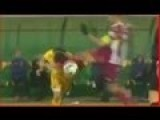 Terrible Kick In Head On Football Match In Romania