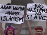 Topless Activists Protest In Front Of German Mosque