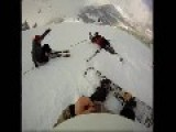 Triple Bail And Crash At Snow Park