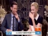 Tobey Maguire And Carey Mulligan Giggle During Great Gatsby Interview With Melissa Doyle