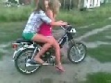 Two Girls Vs A Motorcycle