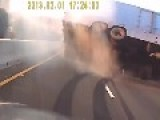 Tiny Car Causes The Truck To Flip