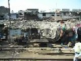 Train Ride Through New Delhi Slums