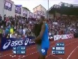 Usain Bolt CRASH! In A Blonde Girl LOL!