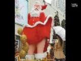 Upskirt Santa Claus