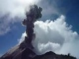 Volcano Explosion From Up Close