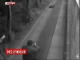 Wounded Cops Gun Down A Suspected Murderer On CCTV With Slow-mo