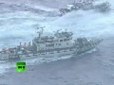 Water Cannon Battle Between Japanese And Taiwanese Patrol Boats