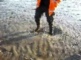 Walking On Quicksand On Morecambe Bay