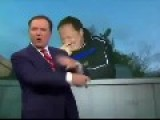 Weatherman Loses Microphone To Polar Bears